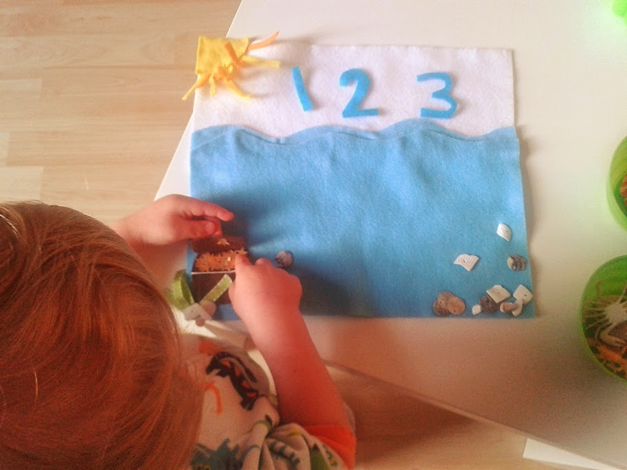 Welcome to Mommyhood: under the sea themed toddlers activities for learning numbers