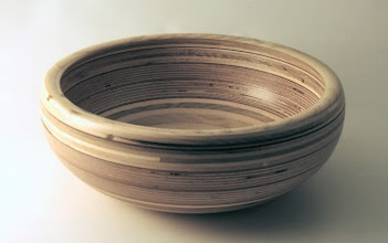 "Photo: Richard Webster 12"" x 4"" bowl [plywood]"