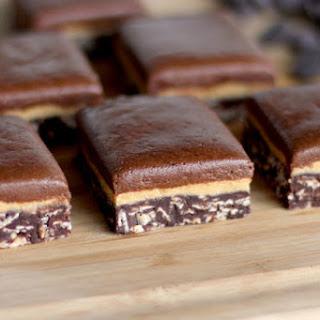 Healthy Triple-Decker Chocolate Peanut Butter Fudge.
