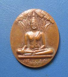 เหรียญพระพุทธหลวงปู่หลอด วัดใหม่เสนานิคม ปี2546 เนื้อทองแดง