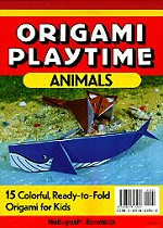 Photo: Origami Playtime : Animals : 15 colourful, Ready-To-Fold Origami for Kids (Book 1),  Enomoto Nobuyoshi  Origami Playtime Animals: 15 Colorful, Ready-to-Fold Origami for Kids.  Tuttle Publishing 1992 paperback ISBN: 080481726X