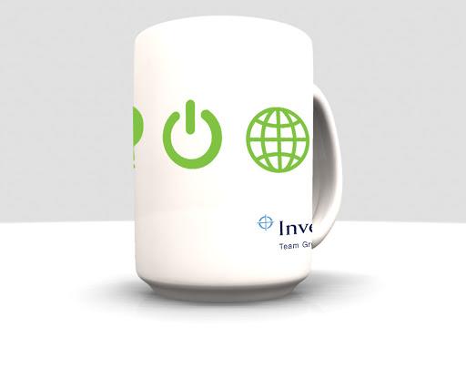 Promotional branded mugs images in 3D design