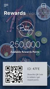 MyBoga Loyalty App - náhled