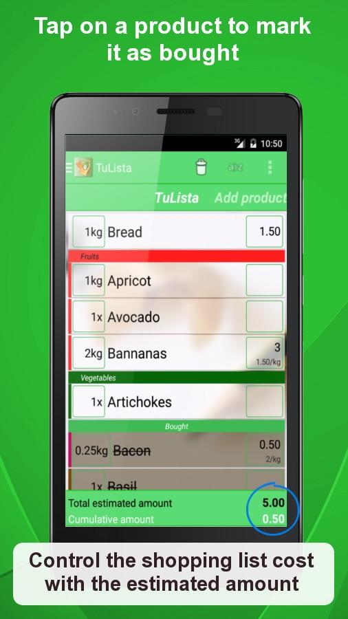 Shopping List - TuLista- screenshot