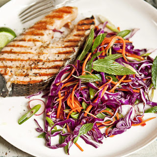 Grilled Salmon with Thai Slaw