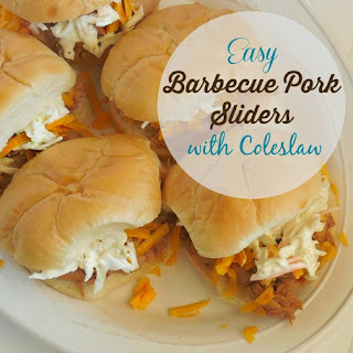 Easy Barbecue Pork Sliders with Coleslaw