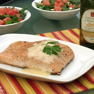 Grilled Salmon with Beurre Blanc