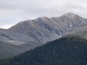 Photo: Au matin, la montagne se dévoile