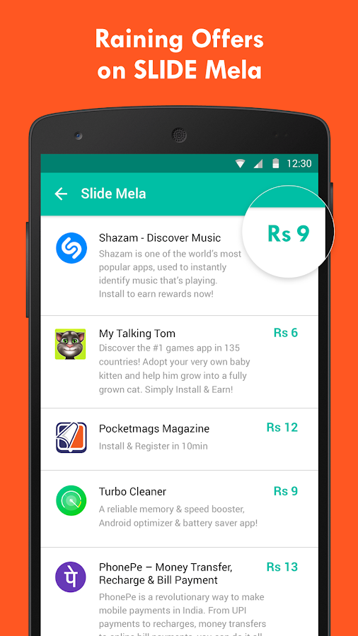 Slide - Earn Free Recharge with Lockscreen!- screenshot