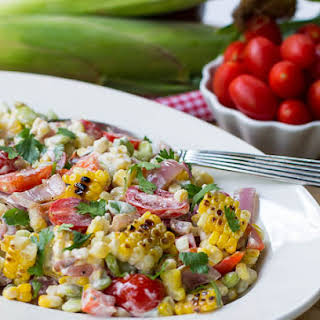 Grilled Corn and Butter Bean Salad.