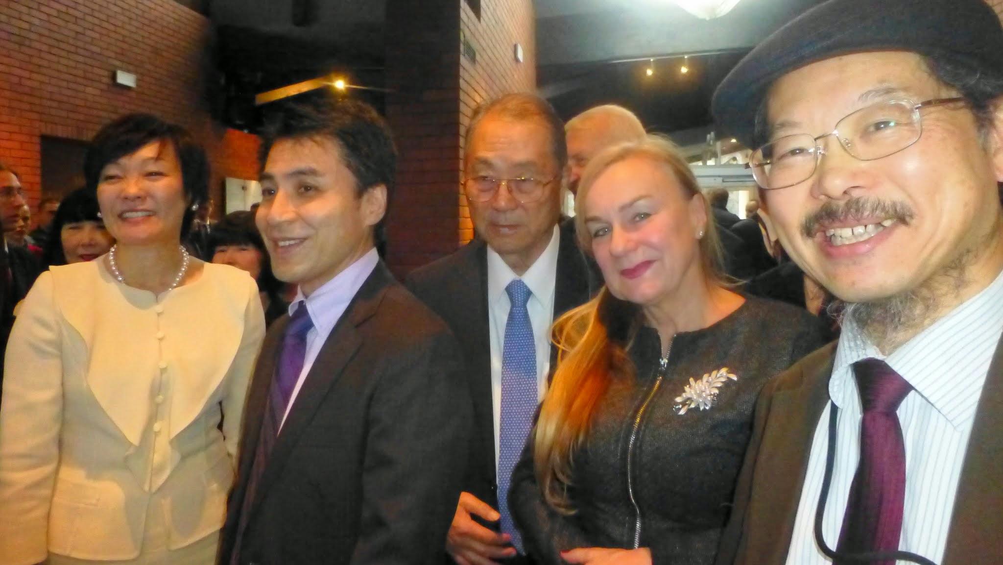 Photo: Z lewej - Pani Akie Abe (żona Premiera Japonii), w środku - Pan Katsuyuki Kambara