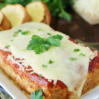Chicken Parmesan Meatloaf (Printable recipe).