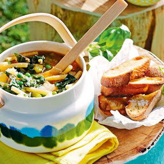 10-vegetable Minestrone With Ricotta Pesto