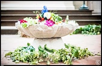 Photo: romanische Taufe aus Kalkstein