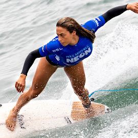 Oceanside II by Mark Ritter - Sports & Fitness Surfing ( surf, surfer, macro, woman, paulmitchell, surfing, competition, oceanside, pacific, wave, ocean, closeup, california, intense )