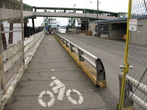 Photo: Day 2: I've always been in a car during the ferry boarding process, so it was interesting to see the bike boarding lane.