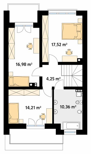 Dąb W - Rzut piętra