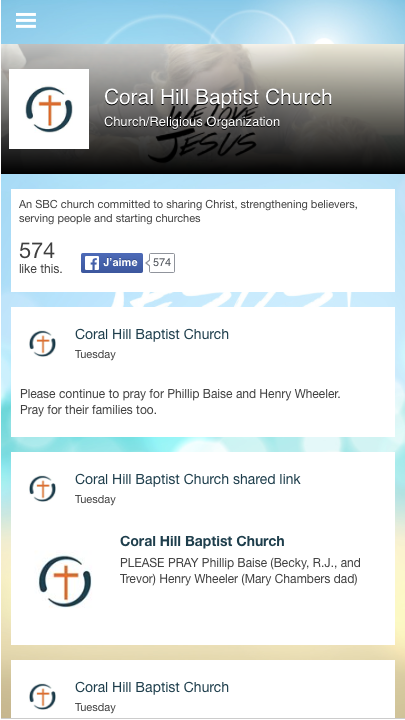 Coral Hill Baptist- screenshot