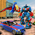 Flying Dino Robot Transformation Games 2021 icon