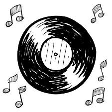 Image result for records black and white clipart