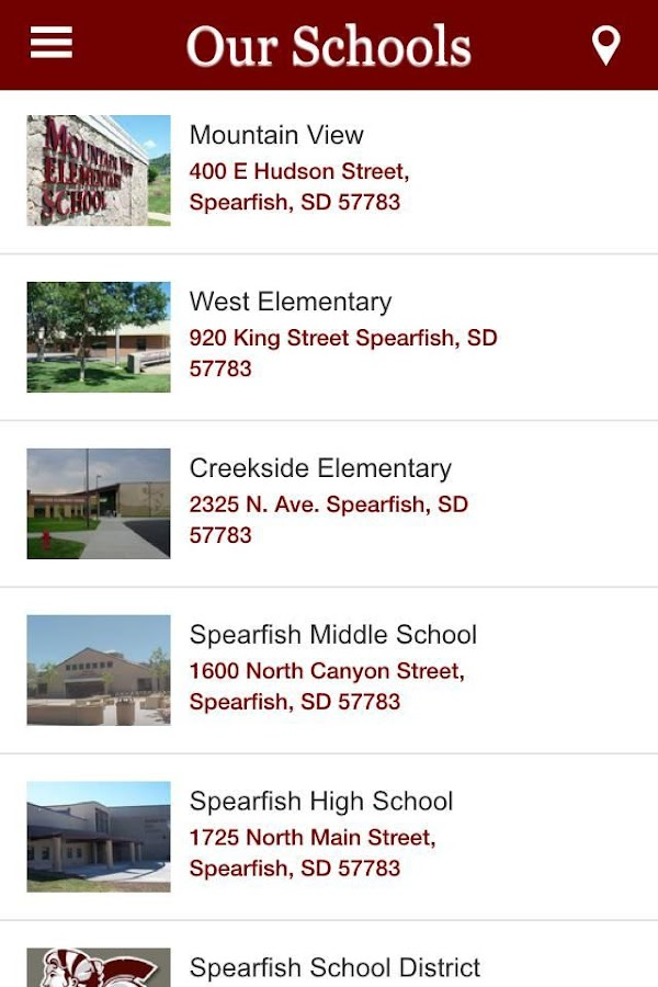 Spearfish School District- screenshot
