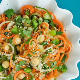 Sweet and Sour Thai Carrot and Cucumber Noodle Salad Recipe