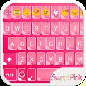 Sweet Pink Emoji keyboard Skin icon