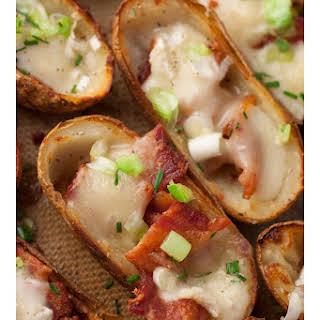 Bacon Brie Potato Skins.