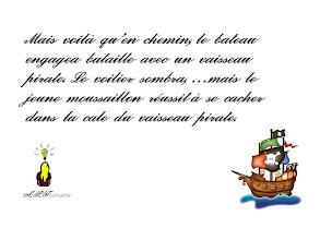 Photo: Page 2 de l'histoire sans fin des pirates le bateau coule !