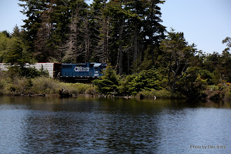 Photo: (Year 2) Day 353 -  Our Lunch Stop at a Lake with a Railway Through the Middle of the Lake