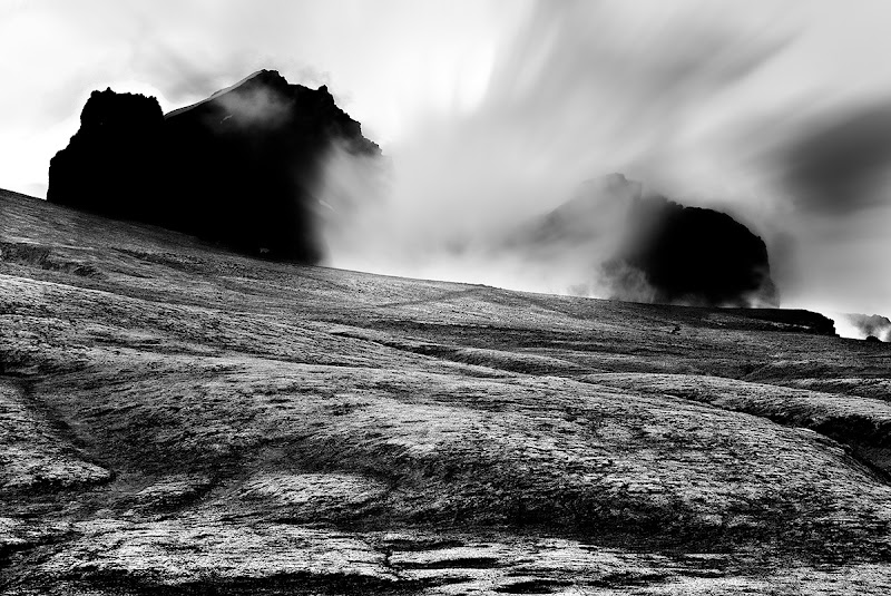 Photo: This is a picture I took during one of my many midnight hikes in Iceland. I originally processed the image in color but I think it looks even more mystical in BW. This what the combination of a moon-like treeless landscape and a long exposure looks like. Enjoy and share.  #monochromemonday #MistyMonday #BWFineArtLE #moodymonday #mountainmonday #FineArtPls #beautifulmundanemonday #PlusPhotoExtract #potd #BreakfastClub #breakfastartclub #photography #NatureMonday #hqsppromotion