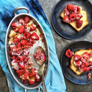 Broiled Raspberry Brûlée
