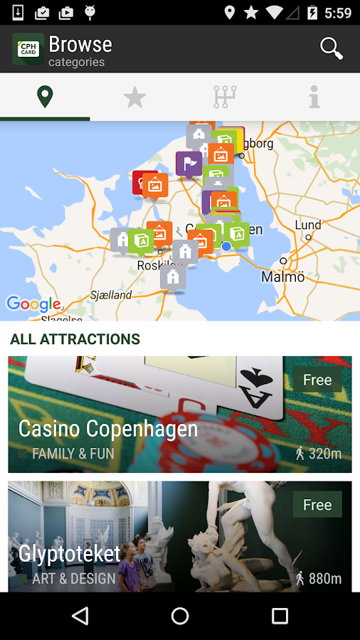 Copenhagen Card City Guide- screenshot