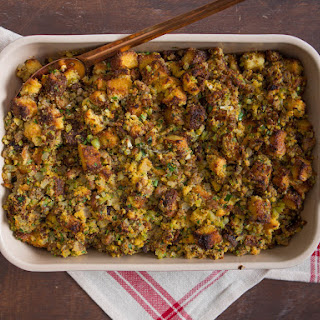 Cornbread Dressing With Sausage and Sage