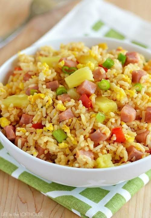 "Click Here for Recipe: Hawaiian Fried Rice ""This Hawaiian version I'm sharing..."