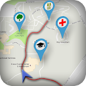 GPS navigation and free maps. Travel guide on tour