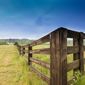 Fence in a Field by James Woodward - Buildings & Architecture Other Exteriors ( fences, countryside, farm, fence, farmland,  )