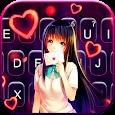 Cute Lovely Girl Keyboard Theme
