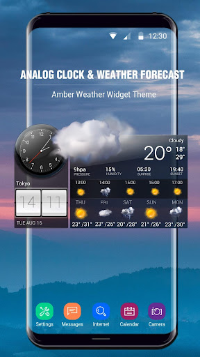 Weather Forecast with Analog Clock  screenshots 2
