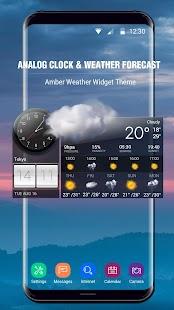 Weather Forecast with Analog Clock - náhled