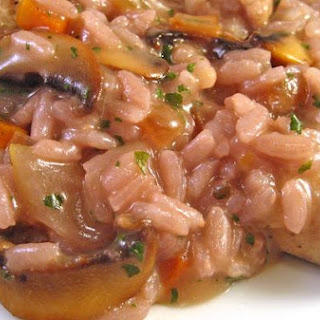 Sausage, Mushroom and Red Wine Risotto.