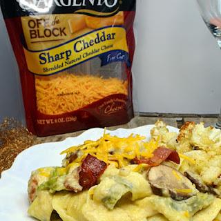 Pasta with Creamy Cauliflower Sauce, Mushrooms & Leeks