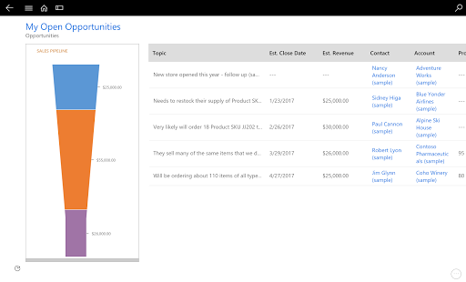Dynamics 365 for Tablets 4.3.19043.33 screenshots 2