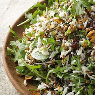 Buckwheat And Rice Salad With Dried Cherries And Hazelnuts.
