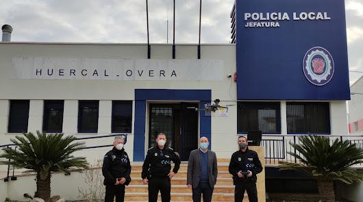 El nuevo dron de la Policía Local ya vigila Huércal-Overa desde el cielo