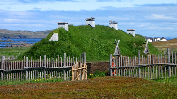 Re-creation of a Viking longhouse at L'Anse aux Meadows National Historic Site