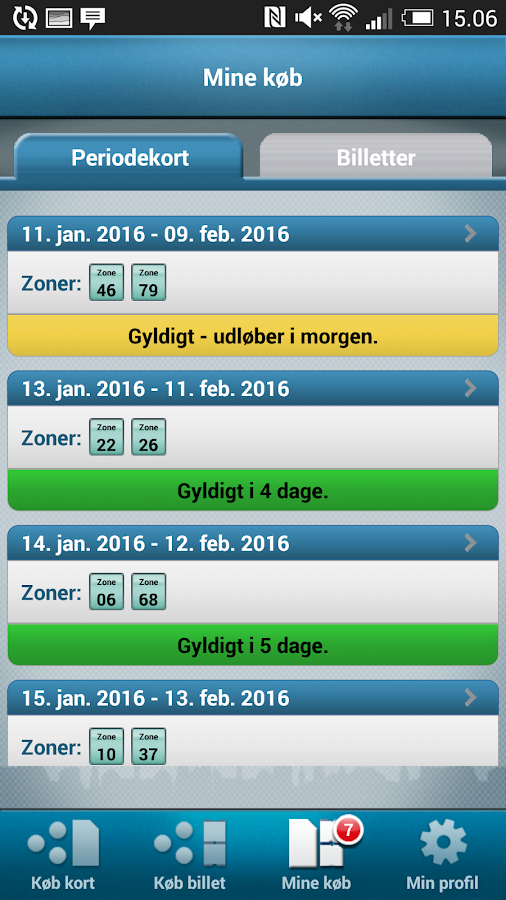 DOT Mobilpendlerkort- screenshot