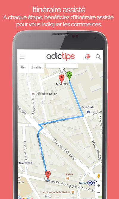 Adictips - bons plans à Paris- screenshot