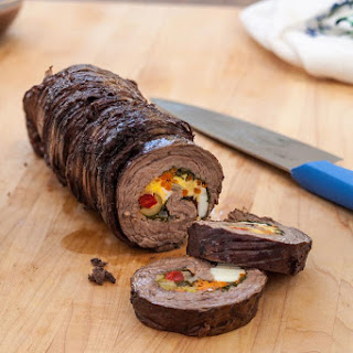 Stuffed Rolled Flank Steak (Matahambre)