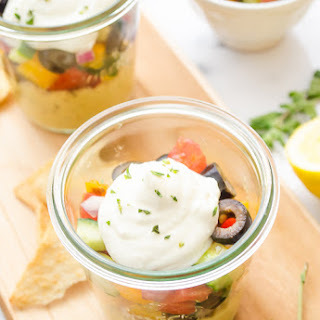 7-Layer Mediterranean Dip Parfaits with Whipped Feta